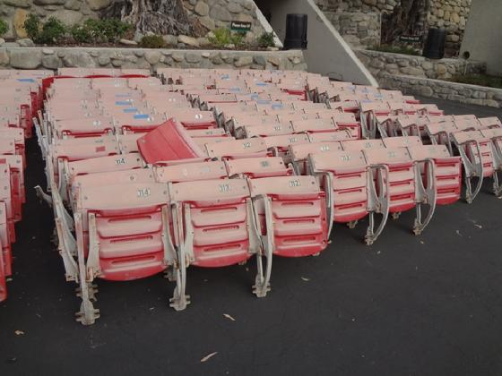 Rose Bowl Stadium Seats staging area, ready to ship